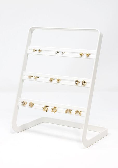 Women's Stars & Moons 9 Pair Earring Set