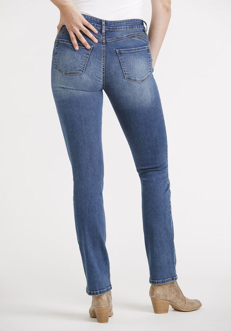 Women's Straight Leg Jeans, MEDIUM WASH, hi-res
