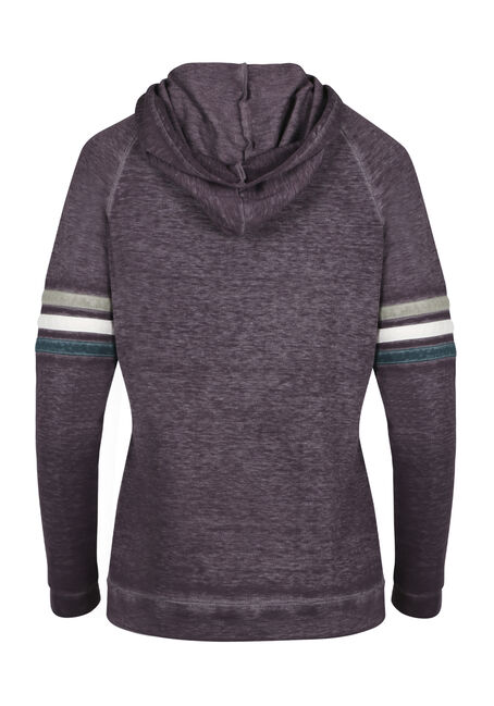 Ladies' Burnout Football Hoodie, HORTENSIA, hi-res