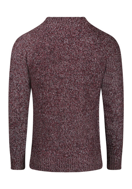 Men's Quarter Zip Sweater, PLUM WINE, hi-res