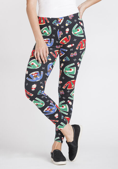 Women's Sweater Print Holiday Legging