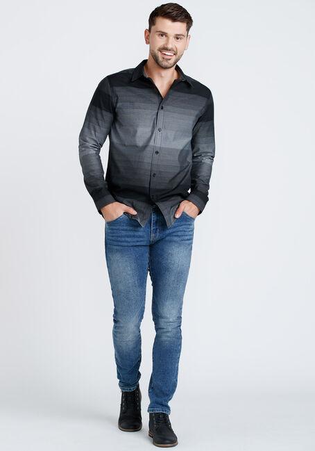 Men's Ombre Shirt, BLACK, hi-res