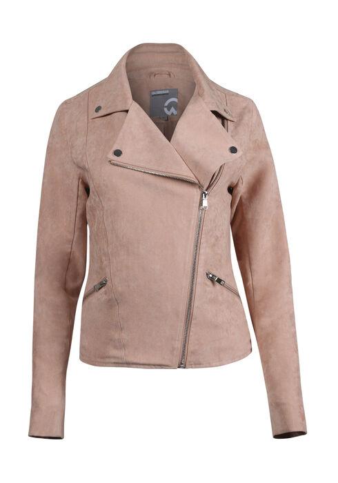 Women's Moto Jacket, MEDIUM PINK, hi-res