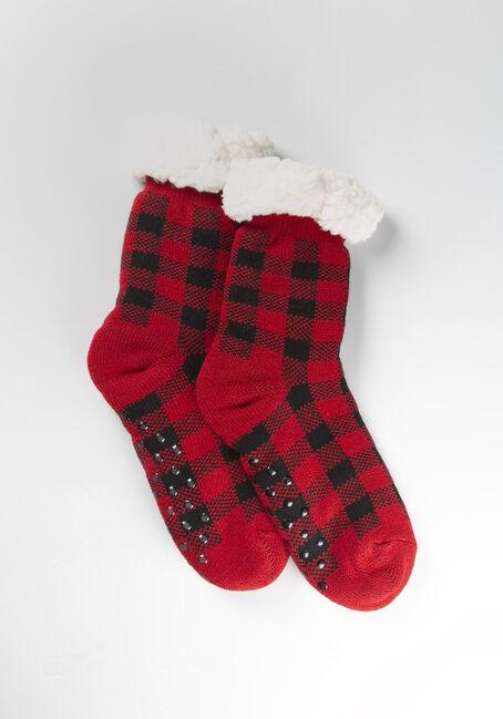 Women's Buffalo Plaid Slipper Sock