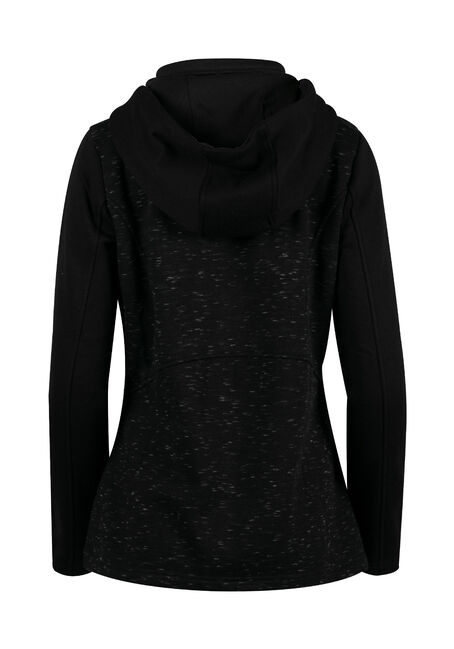 Ladies' Space Dye Hoodie, BLACK, hi-res