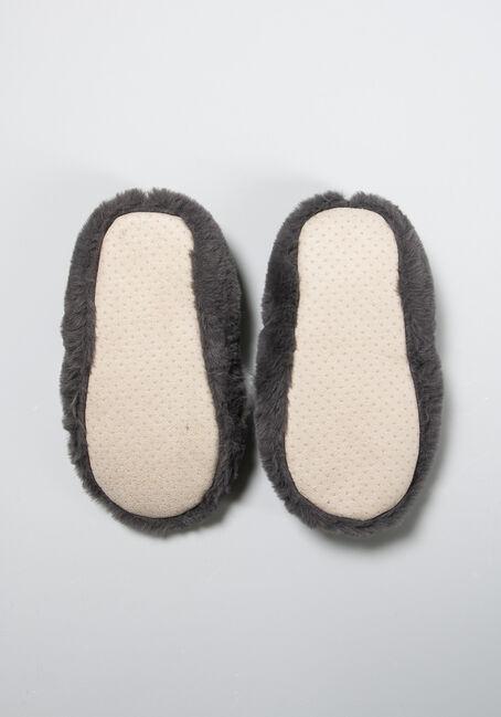 Women's Cozy Slippers, CHARCOAL, hi-res