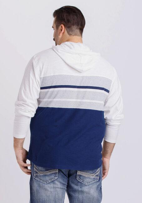 Men's Everyday Hooded Stripe Tee, NAVY, hi-res