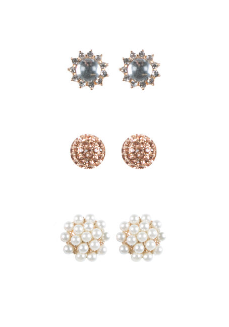 Ladies' Trio Earring Set