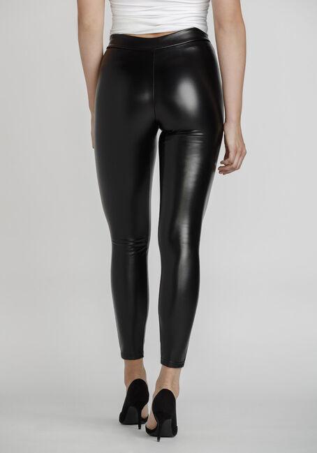 Women's Faux Leather Legging, BLACK, hi-res
