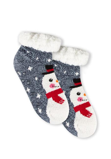 Women's Snowman Slipper Socks