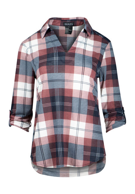 Women's Plaid Popover Shirt