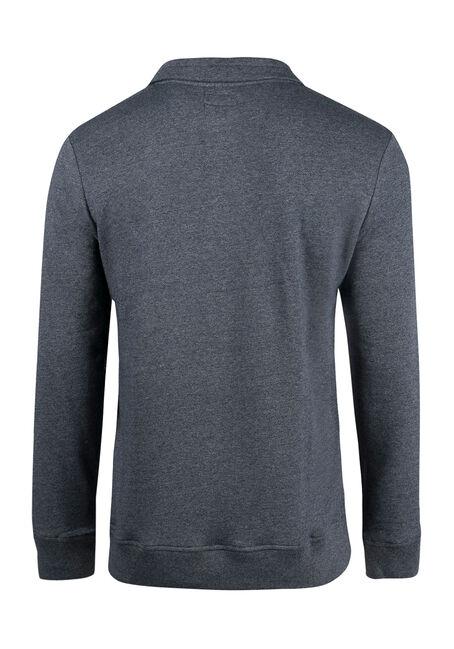 Men's Mock Neck Sweater, NAVY, hi-res