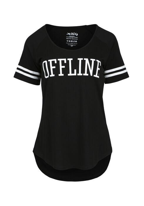 Women's Offline Sleep Tee, BLACK, hi-res