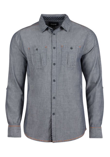 Men's Textured Roll Sleeve Shirt