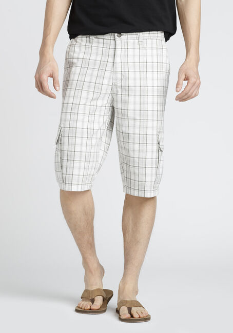 Men's Plaid Cargo Short