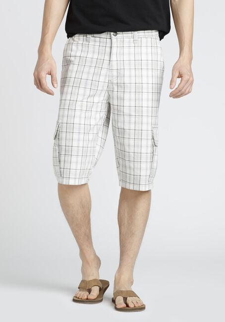 Men's Plaid Cargo Short