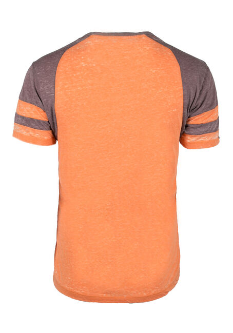Men's Bull Graphic Football Tee, ORANGE, hi-res