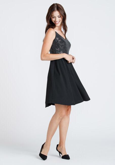 Women's Sequin Top Strappy Dress