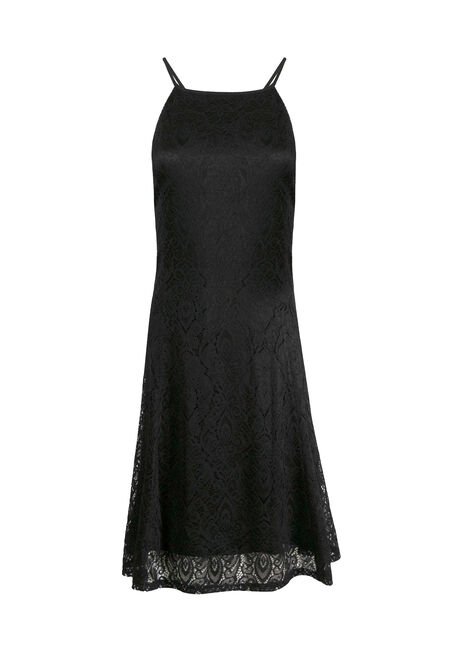 Women's Lace High Neck Dress
