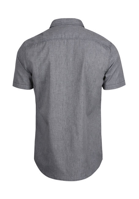 Men's Textured Shirt, GREY, hi-res