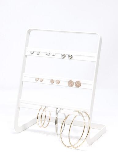 Women's 9 Pair Earring Set, GOLD, hi-res