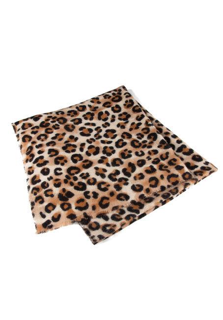 Women's Leopard Scarf, SAND, hi-res