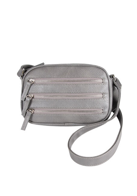 Women's Oval Triple Zipper Cross Body Bag