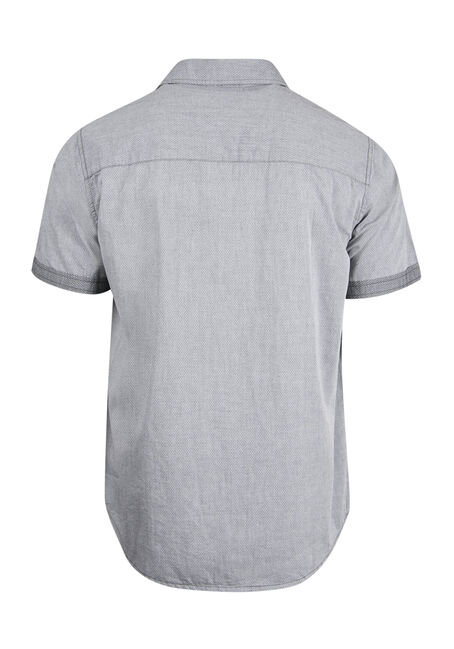 Men's Relaxed Textured Shirt, CHARCOAL, hi-res