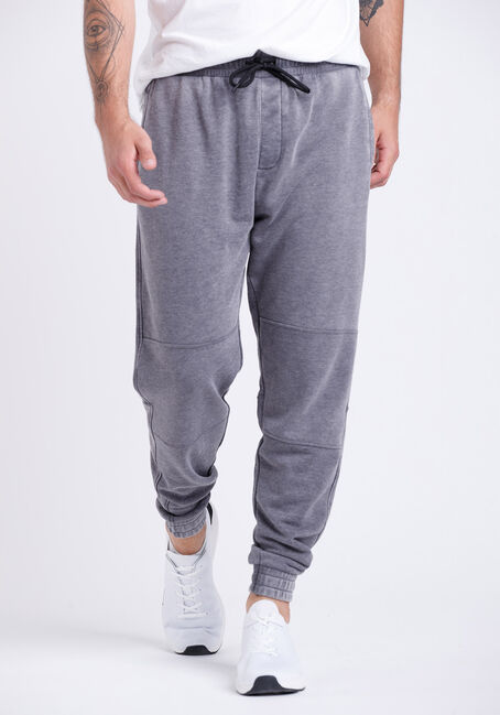 Men's Washed French Terry Moto Jogger