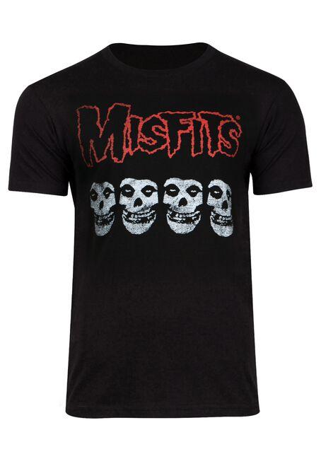 Men's Misfits Tee, BLACK, hi-res