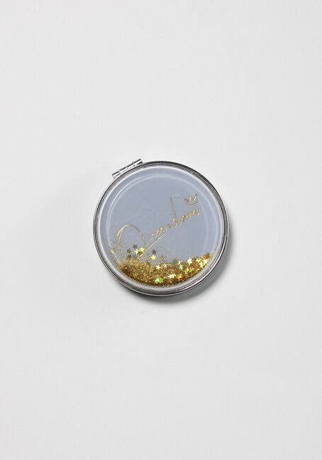 Round Glitter Compact Mirror
