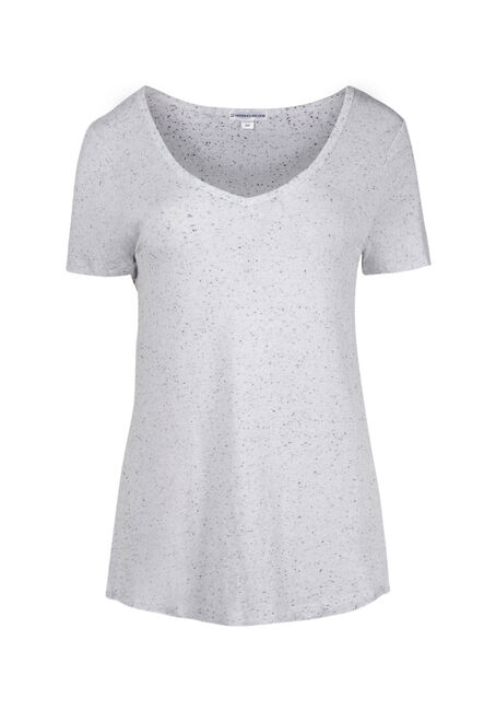 Women's Speckle V-neck Tee