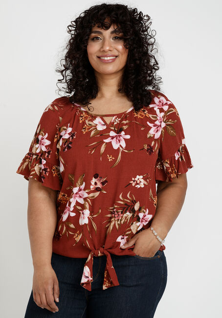 Women's Flutter Sleeve Top
