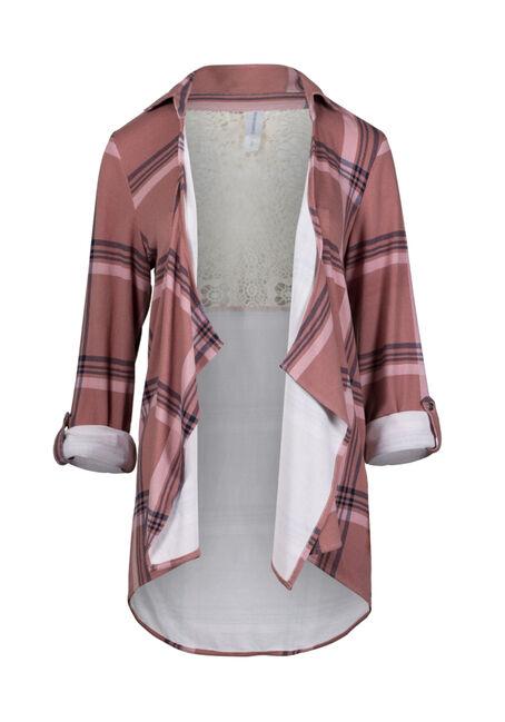 Women's Knit Plaid Cardigan