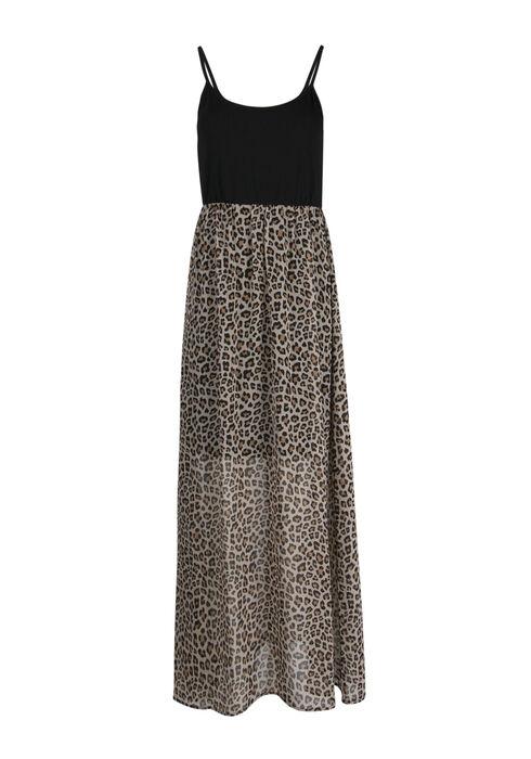 Women's Leopard Print Maxi Dress, MULTI, hi-res