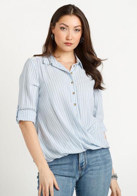 Women's Twisted Hem Stripe Shirt