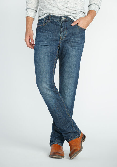 Men's Slim Fit Jeans, MEDIUM WASH, hi-res