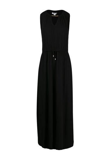 Women's Keyhole Maxi Dress, BLACK, hi-res