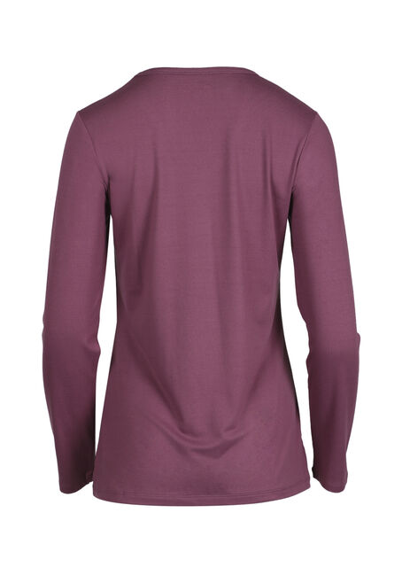 Ladies' V-Neck Tee, MAUVE, hi-res