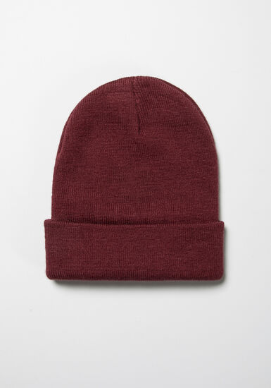 Men's Ribbed Hat, BURGUNDY, hi-res