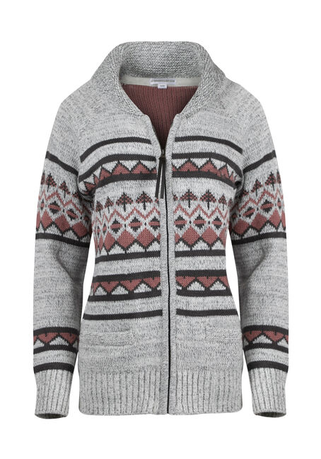 Ladies' Zip Front Nordic Cardigan