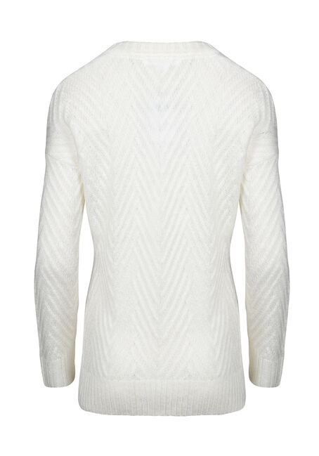 Women's  Chunky Sweater, IVORY, hi-res