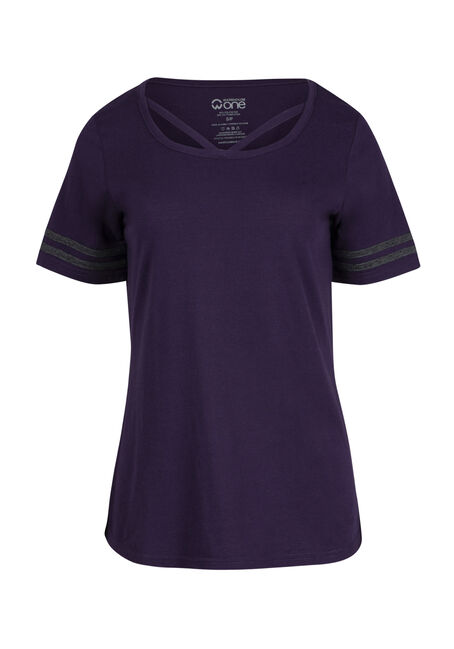 Ladies' Cage Neck Football Tee