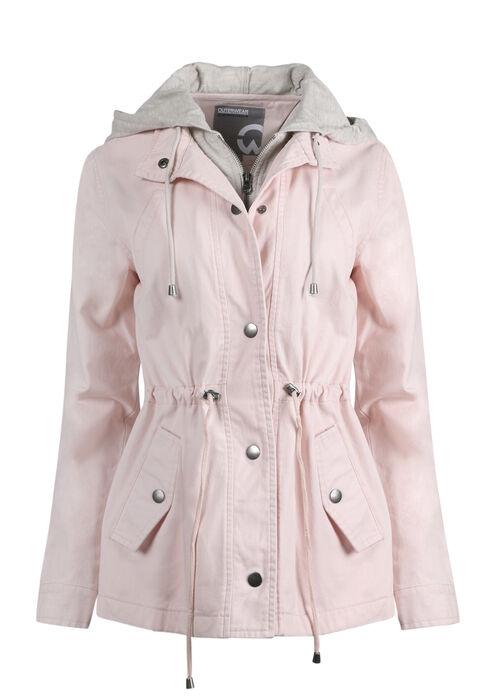 Ladies' Hooded Anorak Jacket, PINK, hi-res
