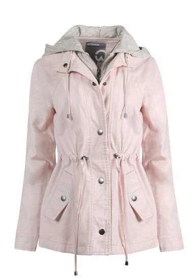 Women's Hooded Anorak Jacket, PINK, hi-res