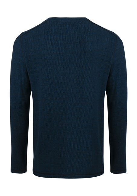 Men's Fooler Henley Sweater, ROYAL BLUE, hi-res