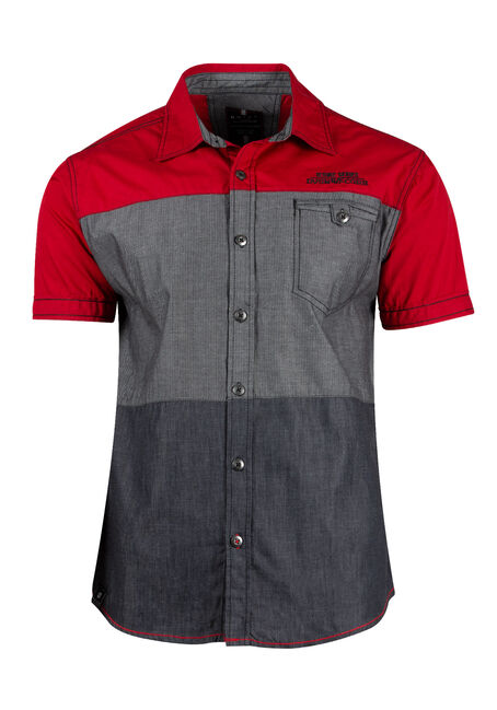 Men's Colour Block Shirt