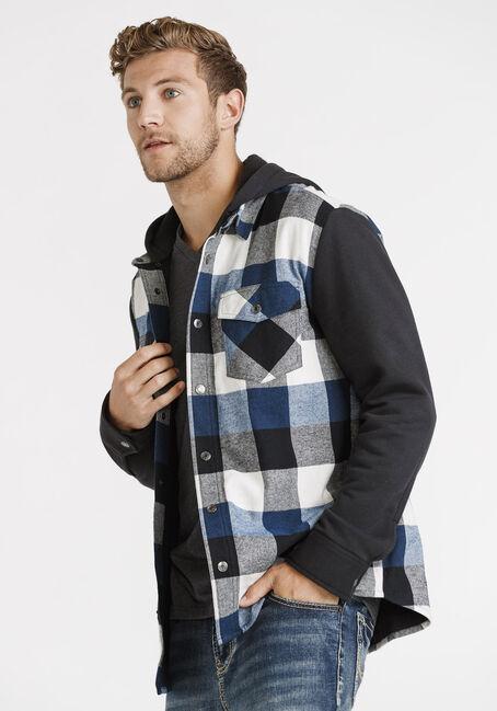 Men's Knit Sleeve Shirt Jacket