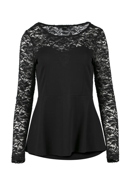 Ladies' Sweetheart Peplum Top