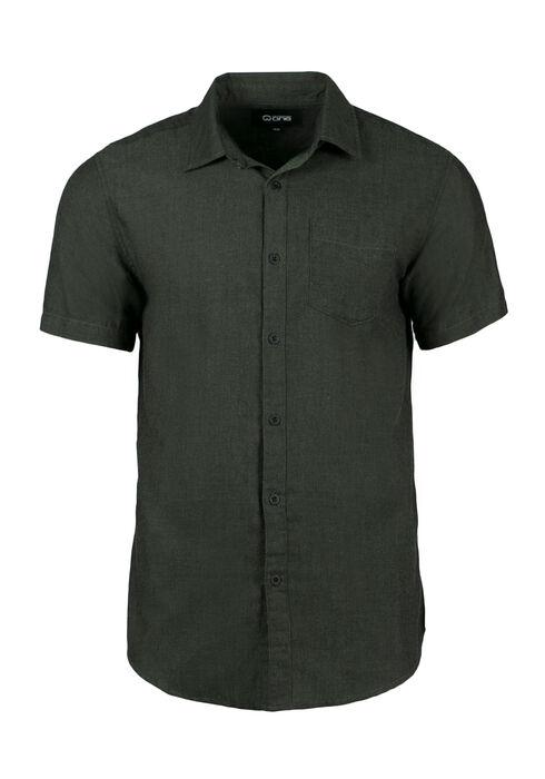Men's Textured Shirt, DARK OLIVE, hi-res